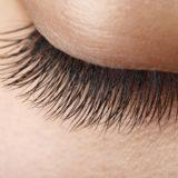 Closeup view of beautiful  asian girl eyelash